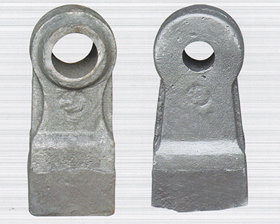 Hard materials can be crushed with bimetallic composite hammers
